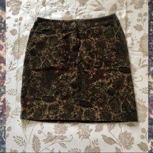 Paisley corduroy mini skirt